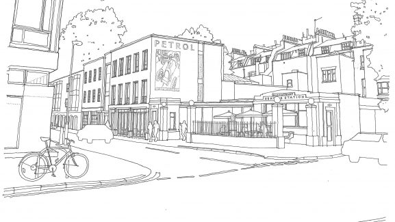 6 Store Street Bloomsbury London store street sketch