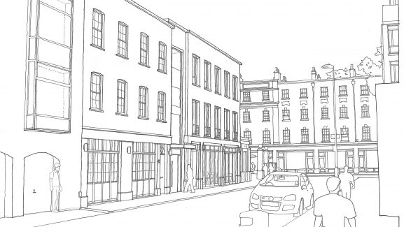 6 Store Street Bloomsbury London ridgmount sketch
