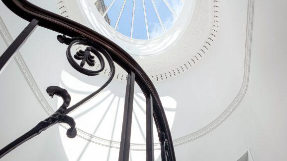 18 Bedford Square Bloomsbury London lantern