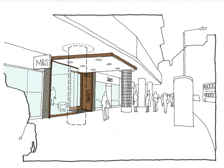 322 High Holborn Exterior Concept Sketch
