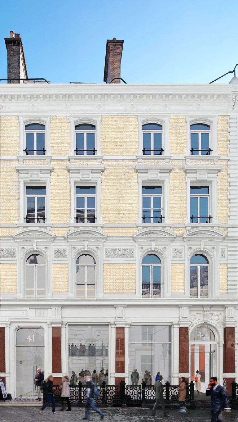 40-41 Great Marlborough Street London front elevation