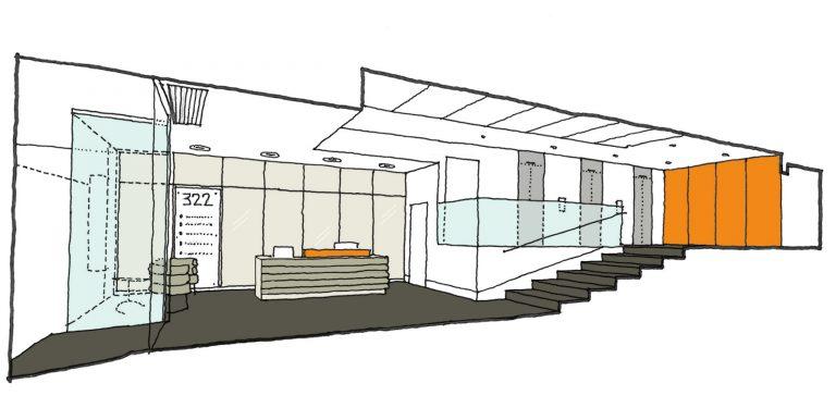 322 High Holborn Entrance Hall Concept Sketch