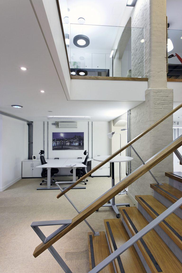 8-12 Dryden Street Covent Garden stairwell