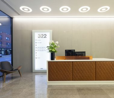 322 High Holborn reception desk