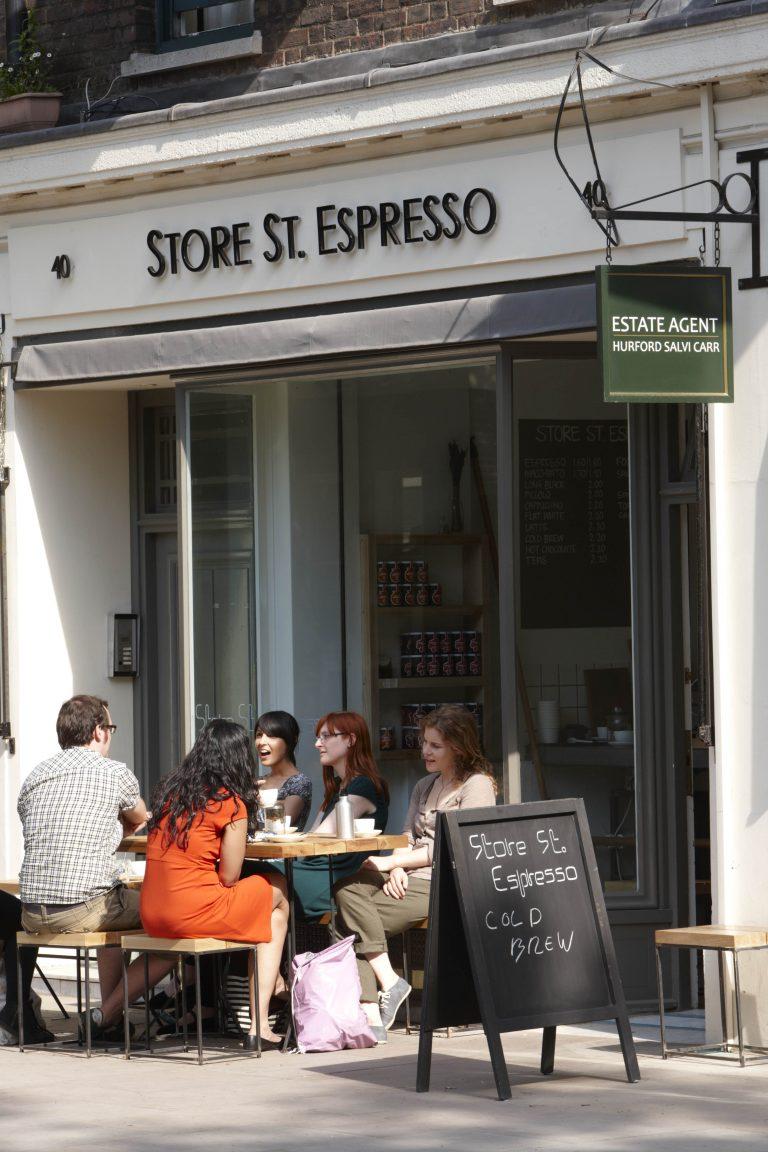 28-42 Store Street Bloomsbury London coffee shop