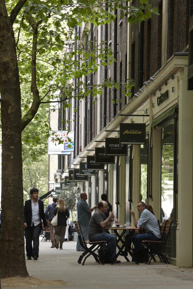 28-42 Store Street Bloomsbury London gathering