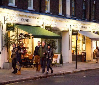 28-42 Store Street Bloomsbury London christmas lights